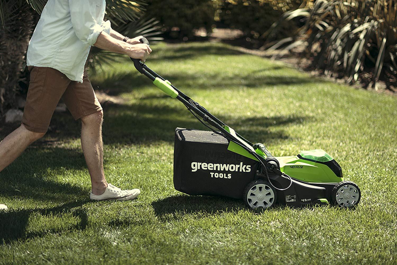 tondeuse Greenworks batterie sans fil