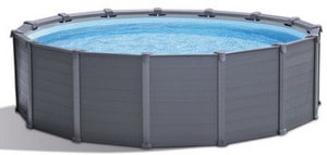 Test piscine tubulaire Graphite ronde d'Intex